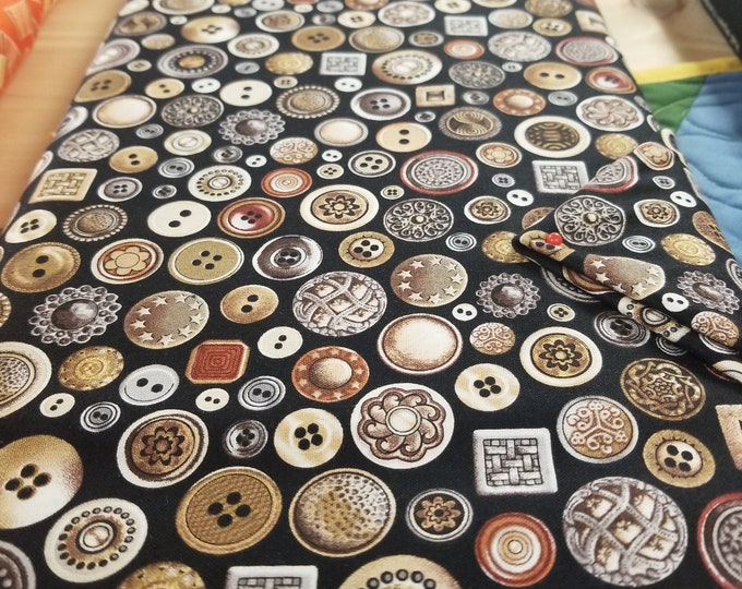 Antique Buttons Quilt Fabric, Seems Like Old Times Fabric