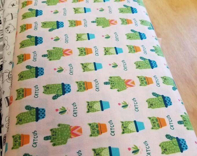 Cactus Quilt Fabric, Playful Cactus Fabric
