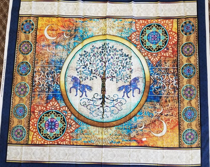 Unicorn Fabric Panel, Tree of Life Panel