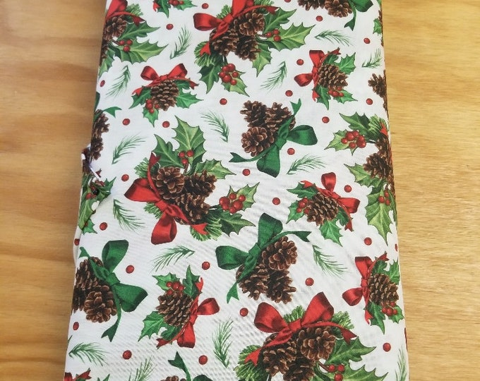 Christmas Holly Quilt Fabric,  Wintertime Fabric