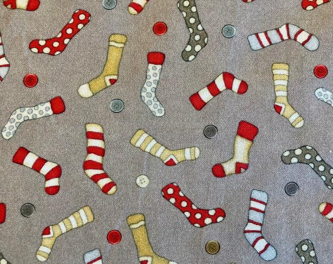 Monkey Biz Quilt Fabric, Socks Fabric By the Yard