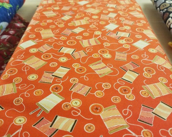 Needle and Thread Quilt Fabric, Sewing Mends the Soul Fabric