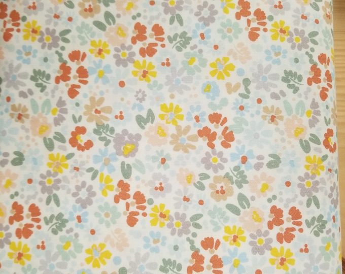 Floral Quilt Fabric, Colorful Flower Fabric
