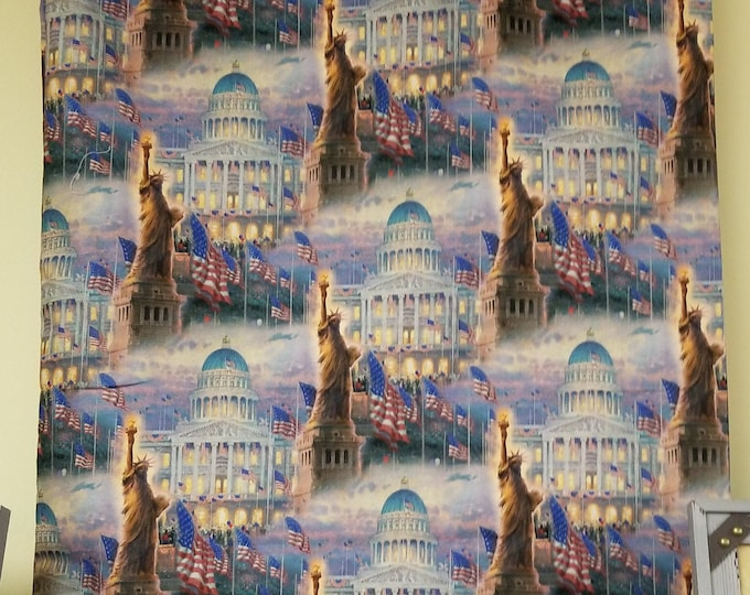 Statue of Liberty Pillow Case, Colorful Fabric, Standard Pillow Case