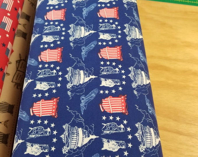 US Flag Quilt Fabric, Stars and Stripes fabric, Old Glory, American Fabric