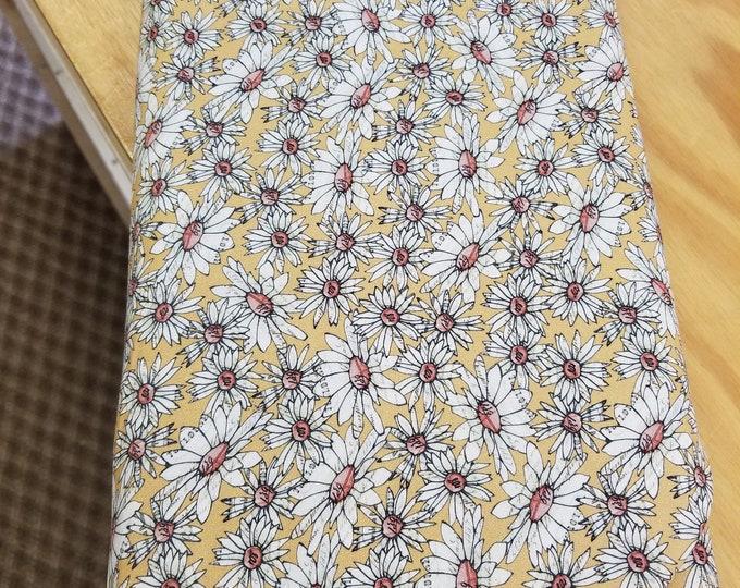 Farm Life Quilt Fabric, Daisy Floral Fabric
