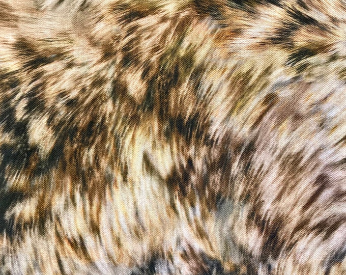 Majestic Wolves Quilt Fabric, Wolf Fur Print Fabric By the Yard