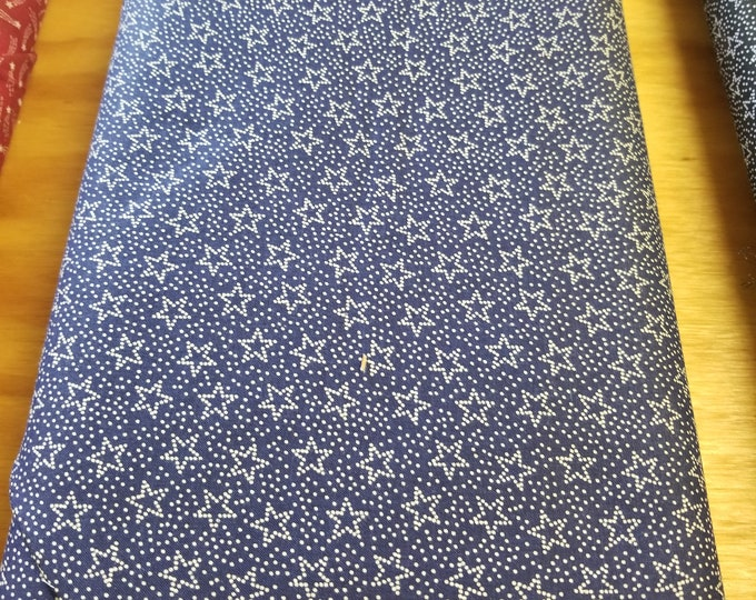 Blue Star Quilt Fabric, Fabric Traditions, Stars and Stripes fabric
