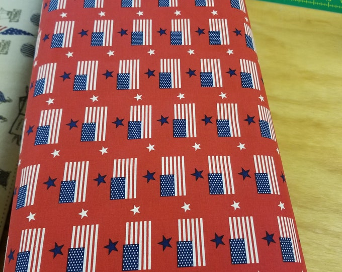 US Flag Quilt Fabric, Stars and Stripes fabric, Old Glory, American Eagle Fabric