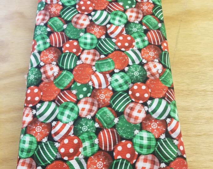Christmas Ornament Quilt Fabric, Bulbs, Wintertime Fabric