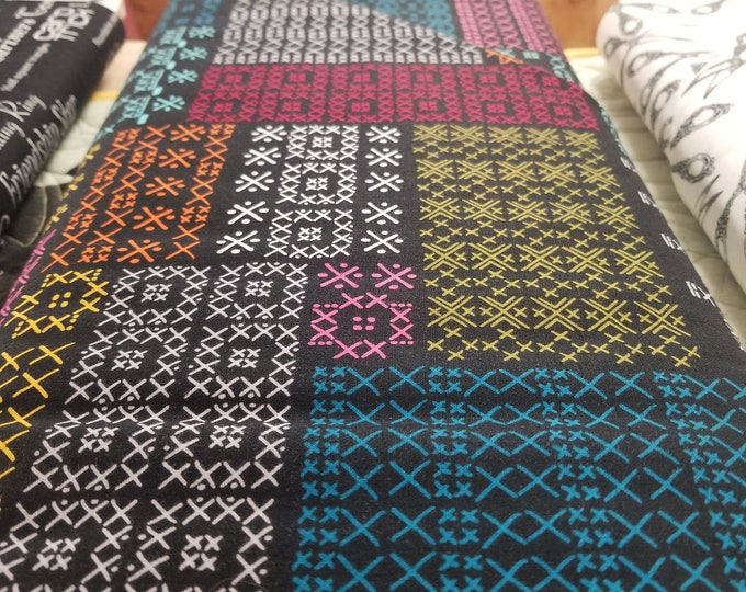 Cross Stitch Quilt Fabric, Seems Like Old Times Fabric, Sewing Patterns