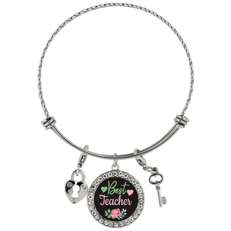 Silvertone Antiqued Turkey Daughter You Are Loved Circle Bracelet 8
