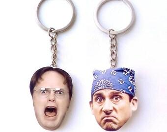 Michael and Dwight keychain Dwight Schrute dunder mifflin michael scott the office tv show the office tv show