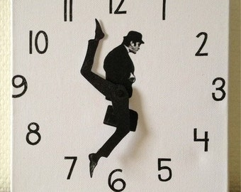 Funny wall clock funny clock wood clock
