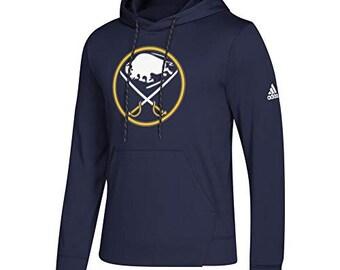 be98a2554 Buffalo Sabres NHL Men s Goalie Pullover Hooded Sweatshirt