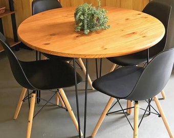 round dine kitchen dining table mid century hairpin legs large selection of  finish colors FREE Shipping 3479746f3e