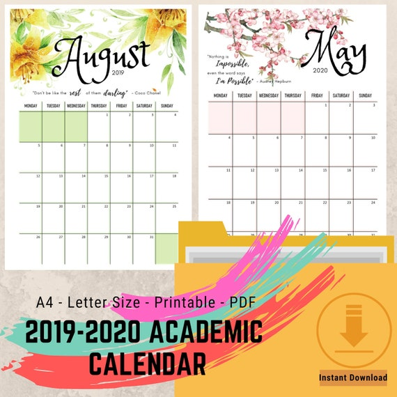 Calendrier Can Gabon 2019 Pdf.Printable Calendar Academic Calendar Motivational Calendar 2019 2020 Calendar Seasonal Calendar