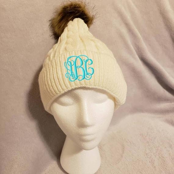40534dad29d Monogram Pom Hat Pom Beanie Personalized beanie Winter