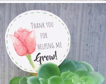 Thank You For Helping Me Grow Etsy