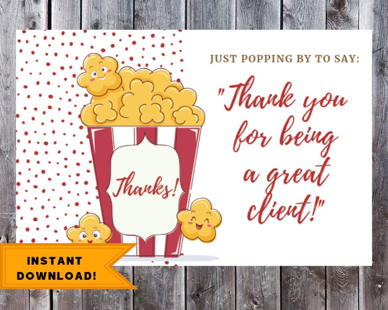 photograph relating to Tag Printable named Legitimate Estate Popcorn Pop By means of Present Tag Printable, Real estate agent Enterprise Present, Printable Popcorn Tag, Business enterprise Perfect Affected person Thank On your own Playing cards