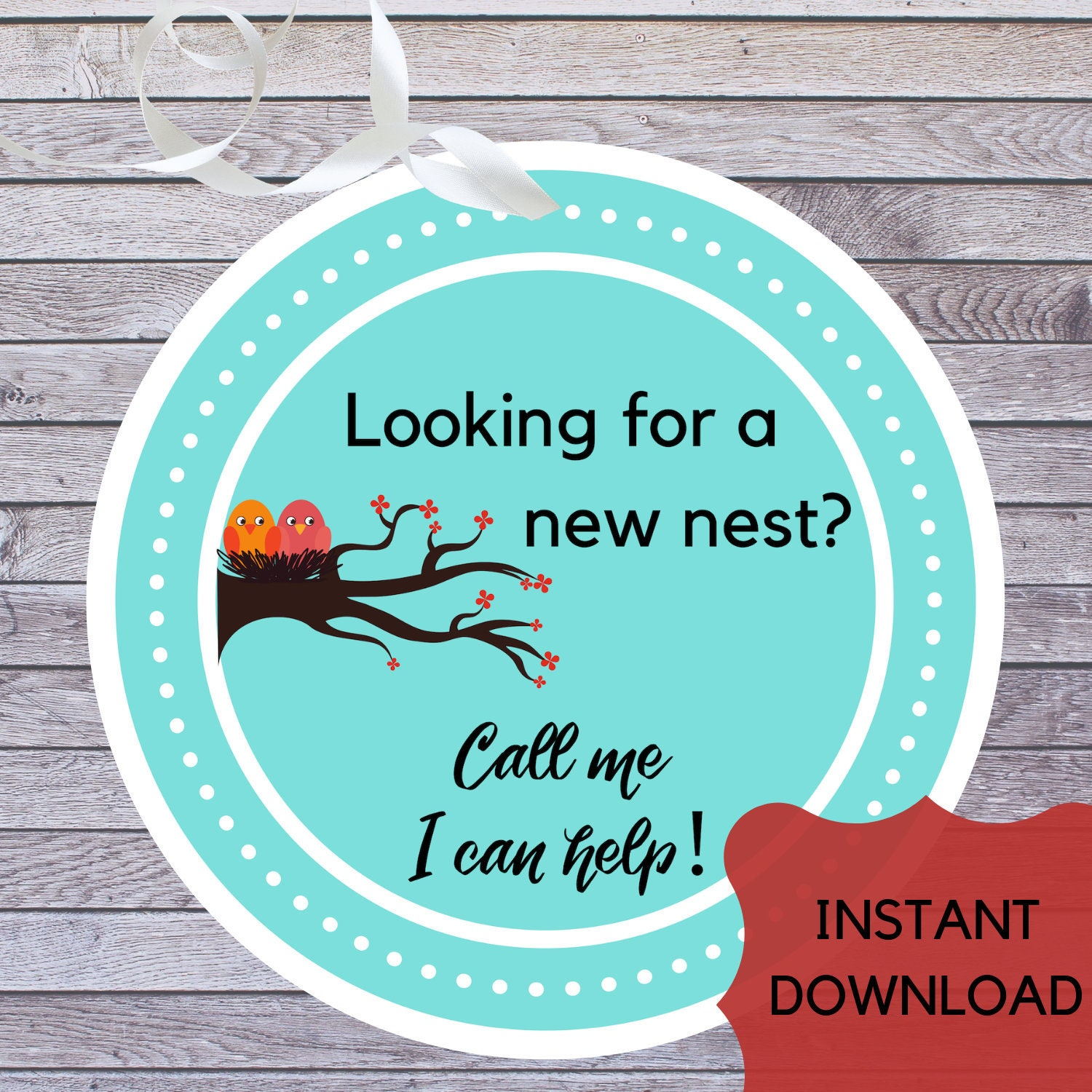 photo relating to Printable Pop by Tags titled SALE! Correct Estate NEST Tags Printable, Household Client Real estate agent Promo Sticker, Genuine Estate Consultant Mortgage loan Pop By way of Reward Tags, Prompt Down load Label