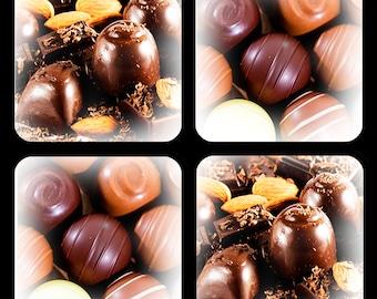 Chocolate Candy Coaster Set of 4