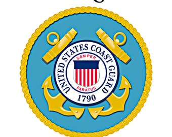 """US Coast Guard Thank You For Your Service 8x10"""" Panel"""