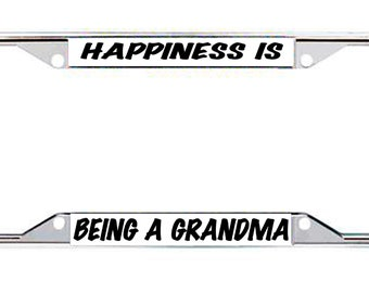 Happiness Is Being A Grandma Every State License Frame