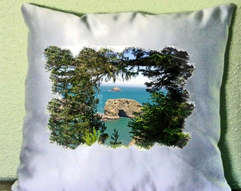 """Pacific Ocean Views Pillow Cover 15"""" x 15"""" Cover"""