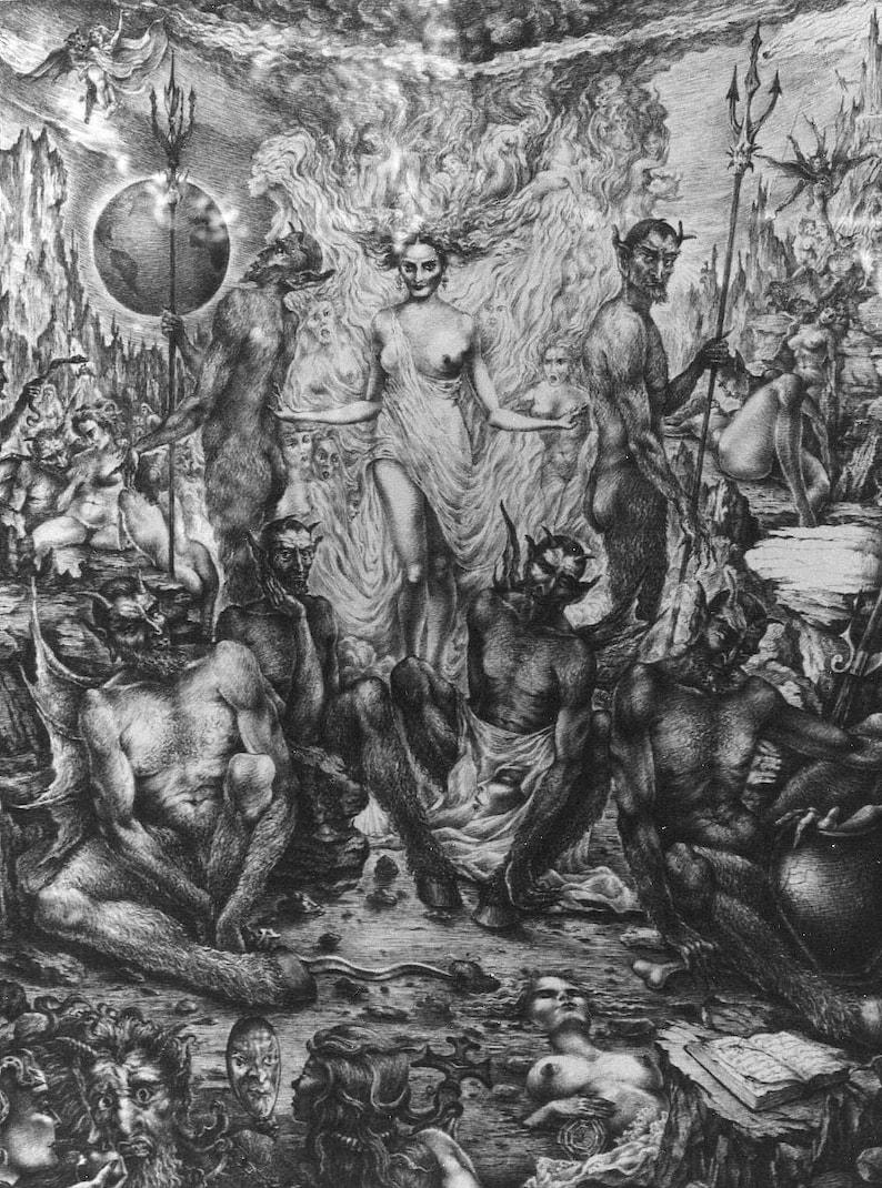 Eva's way to Hell By Imre Zsido Fantasy Art Canvas image 0