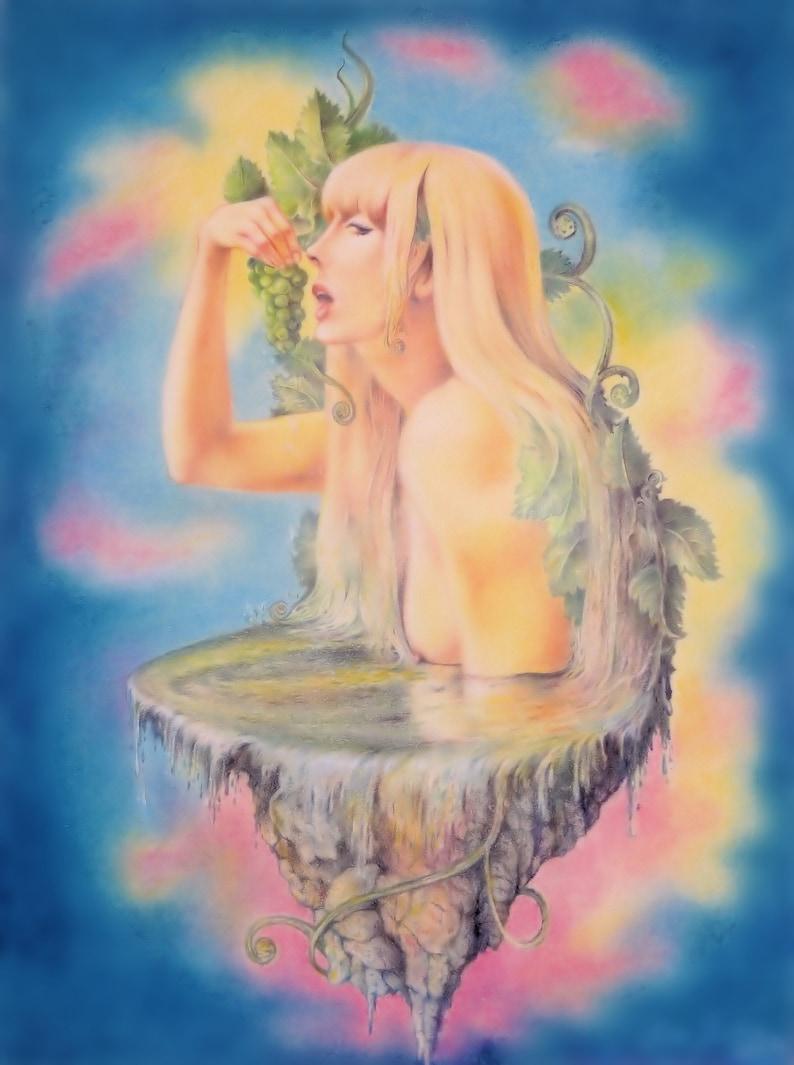 Celebration of the Grapes  By Imre Zsido Fantasy Art Canvas image 0