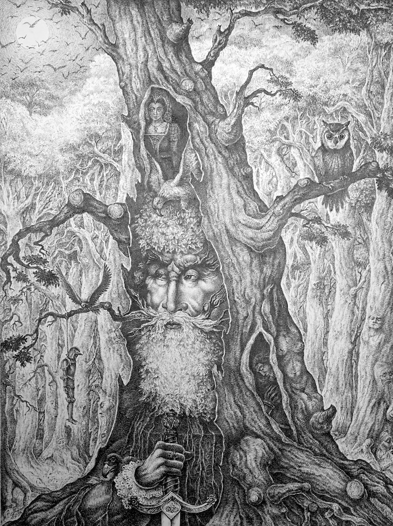 Old Forest King  By Imre Zsido  Fantasy Nature Canvas  image 0