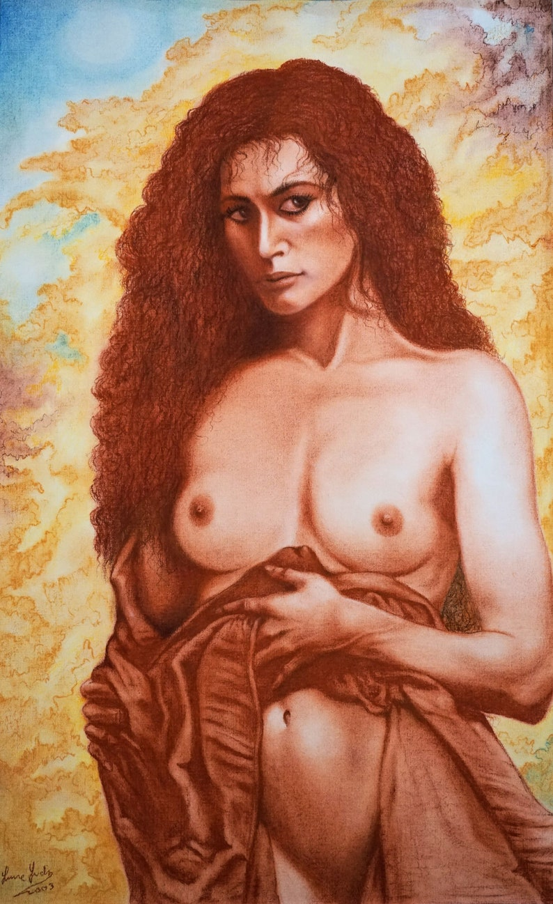 Lady with Red Hair  By Imre Zsido Fantasy Art Canvas Print image 0