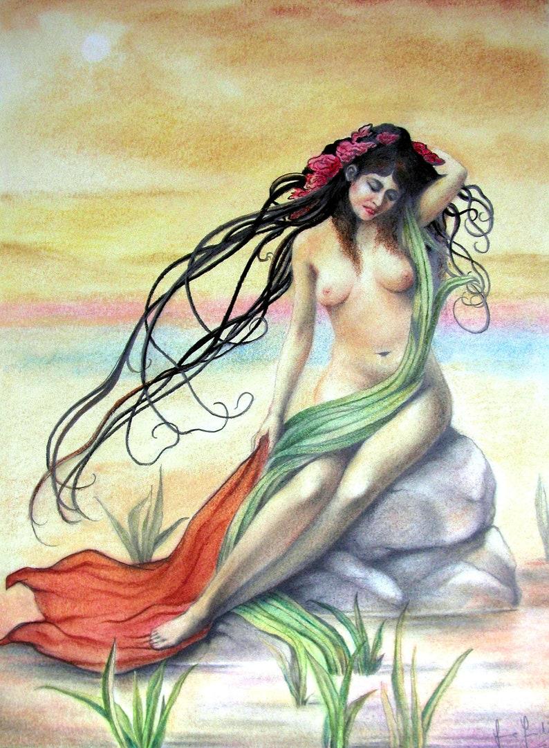 Fantasy of the Sea  By Imre Zsido Fantasy Art Canvas Print image 0