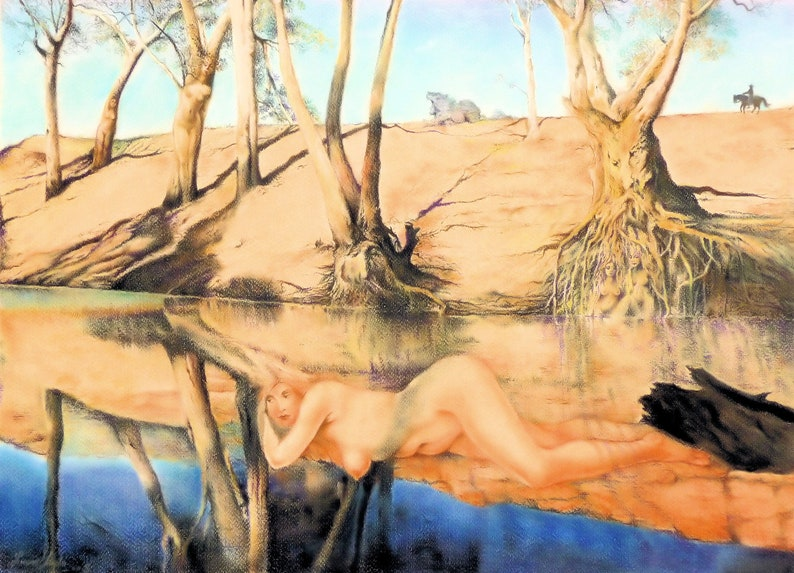 Rest in Landscape  By Imre Zsido Canvas Print  Fantasy image 0