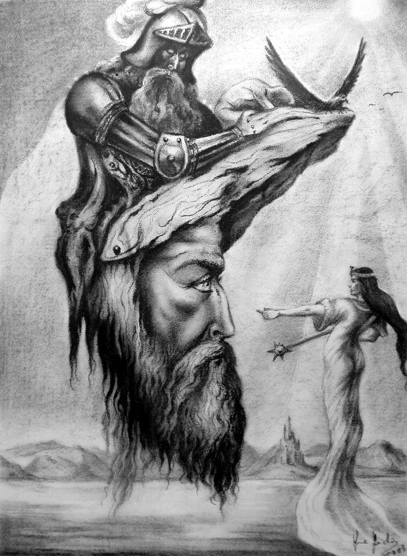 Lost King  By Imre Zsido Fantasy Canvas Print  Fantasy image 0