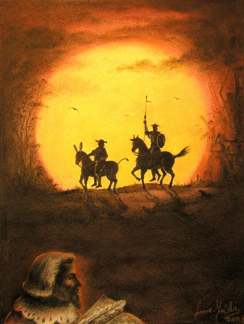 Don Quixote DeLa Mancha  By Imre Zsido Fantasy Art Canvas image 0