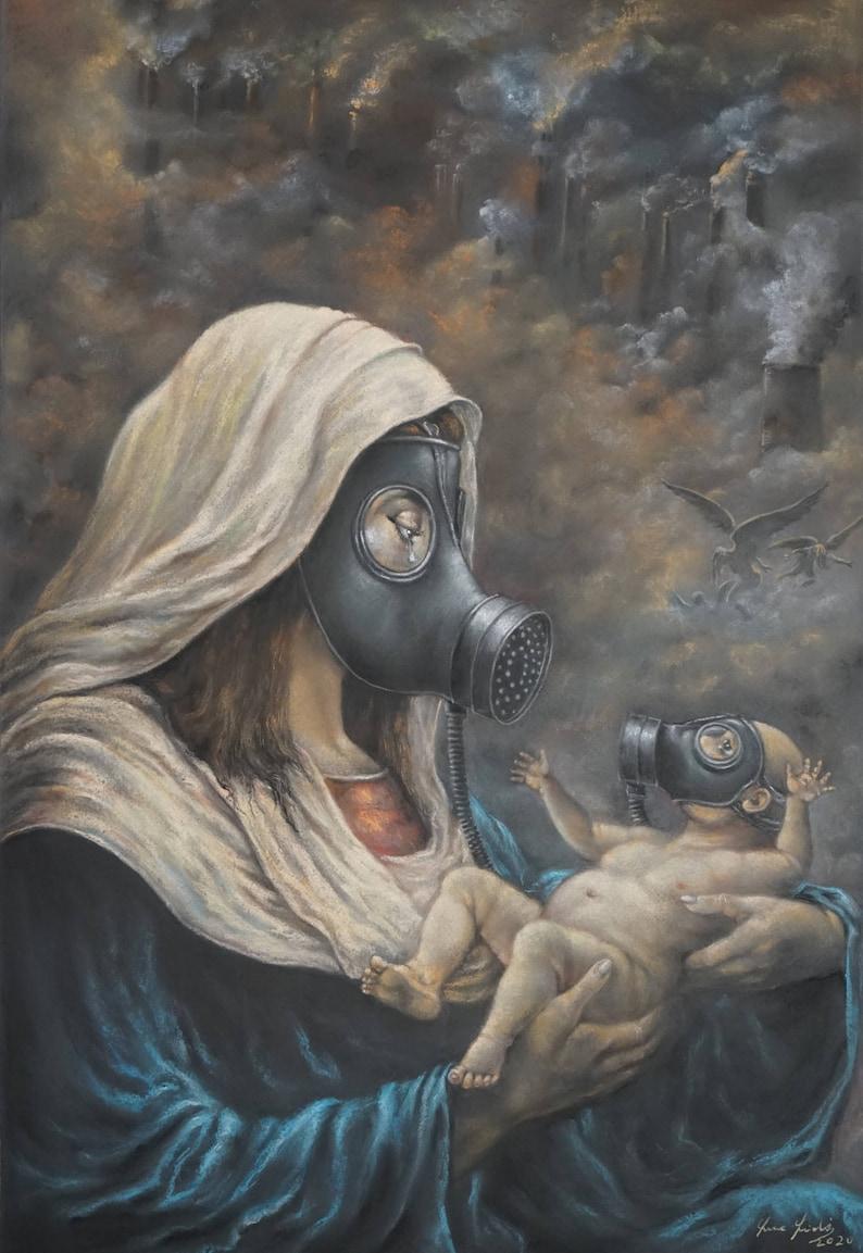 New Madonna  By Imre Zsido Fantasy Art Canvas Print  image 0
