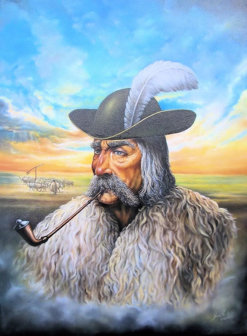 Juhasz  By Imre Zsido Fantasy Art Canvas Print  Fantasy image 0