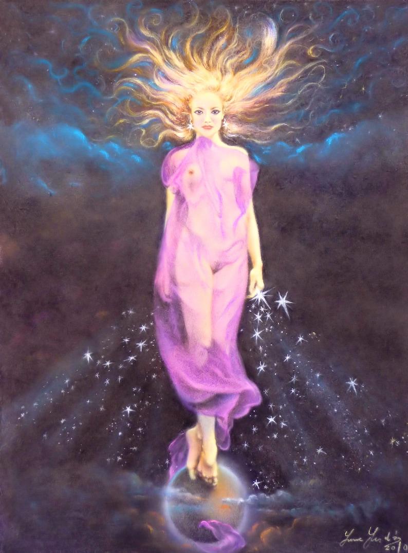 Guardian of the Stars  By Imre Zsido Fantasy Art Canvas image 0
