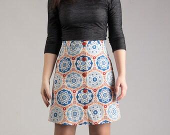 Button down skirt, Retro style, wrap skirt, mini A-line skirt, vintage fashion, woman's summer fashion