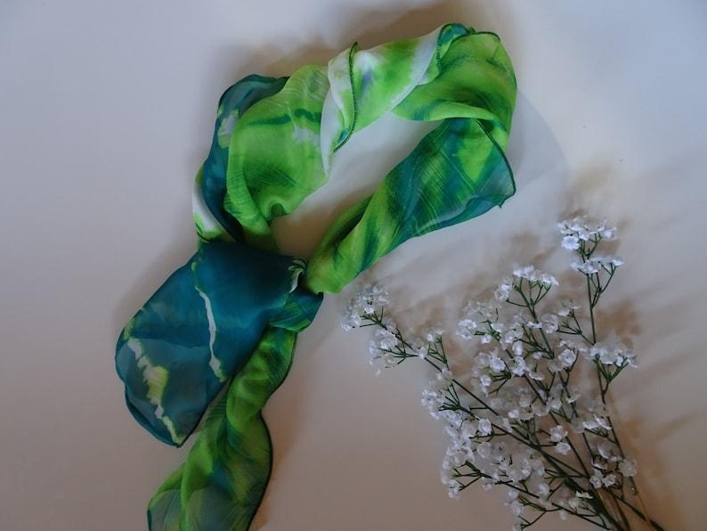 Head Scarf boho head wrap vintage neckerchief rockabilly image 0
