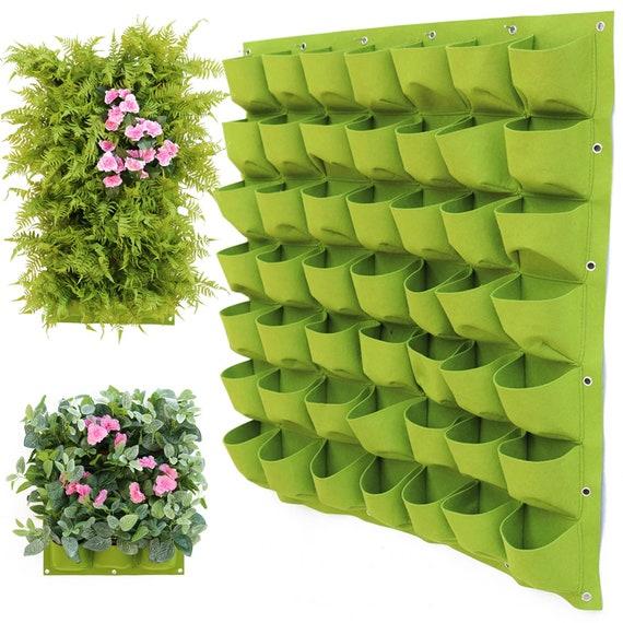Vertical Garden Planters >> Wall Garden Planter Bag Wall Planters Vertical Garden Green Wall Wall Hanging Planters Vertical Herb Garden Pocket Garden