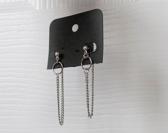 963cdecc0 BTS Earrings- V DNA drop chain earrings
