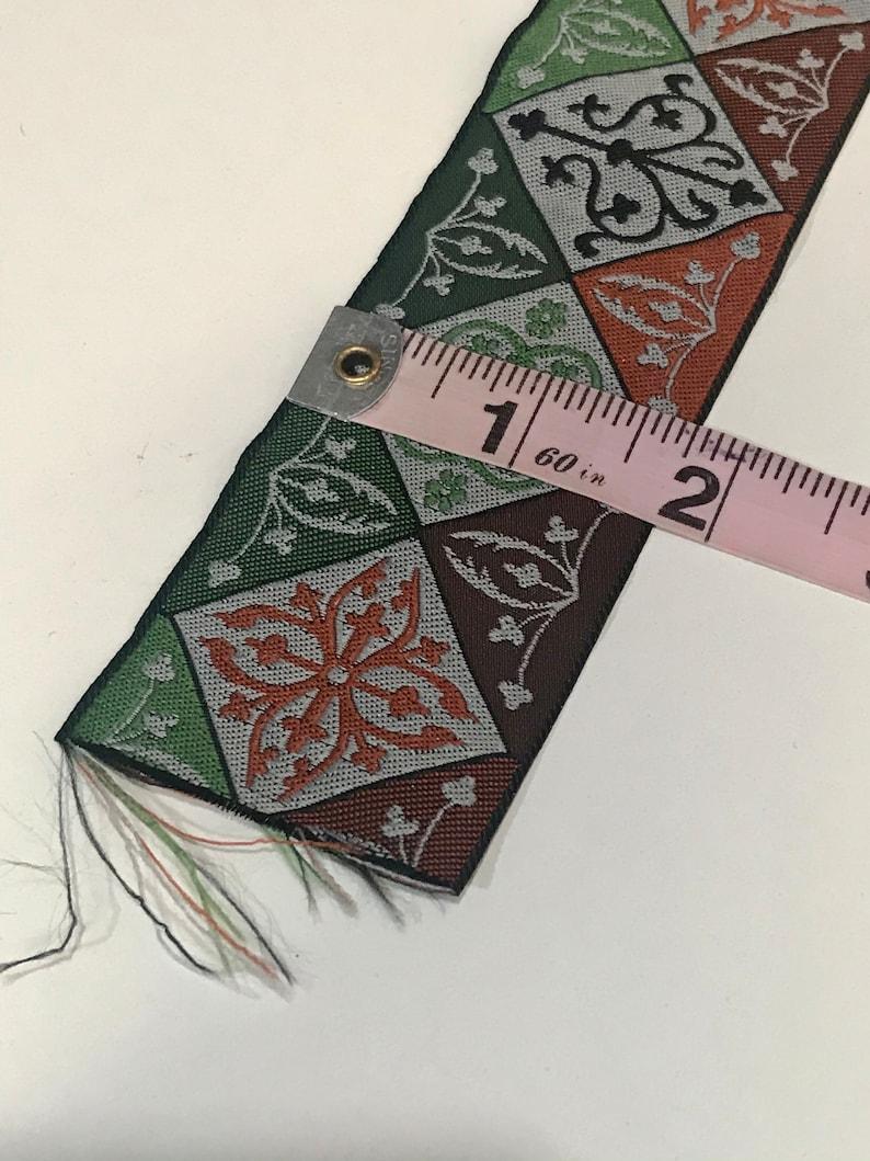 . 1 34 wide by 32 long Vintage jacquard ribbon trim not a full yard