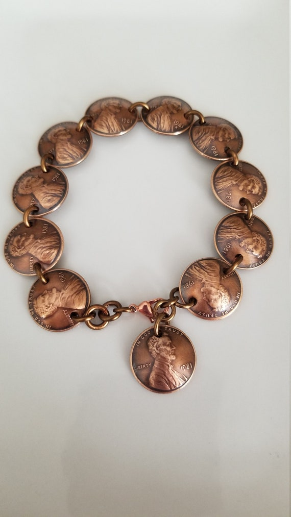 Details about  /1970 DIME CHARM BRACELET 51st BIRTHDAY ANNIVERSARY GIFT SILVER USA COIN JEWLERY!