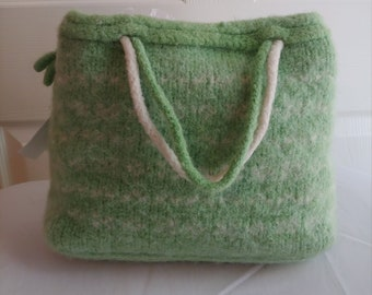 7f31691da4 Hand knit and felted wool purse