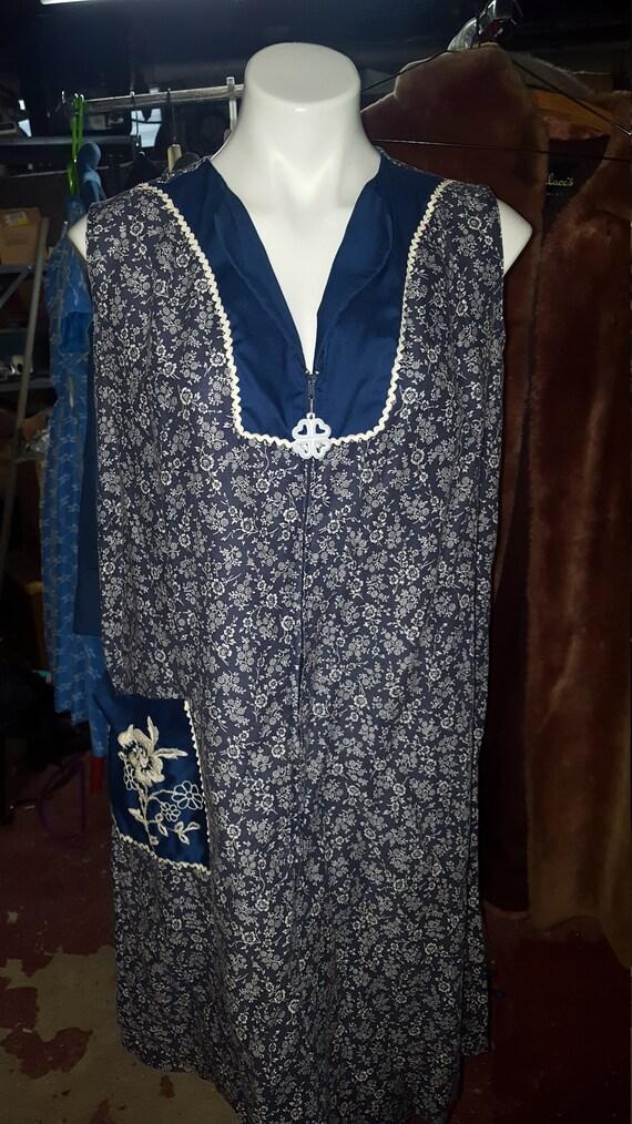 60s Half Zip Up Dress
