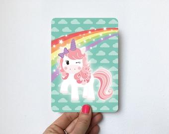 Pink unicorn, super magical!   Postcard A6