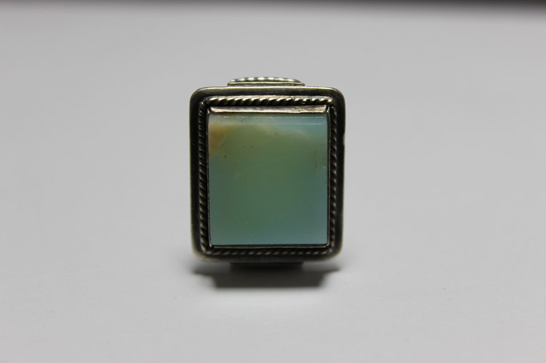 turquoise stone silver 1947 USSR Soviet vintage ring